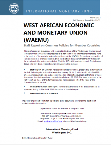 What is the impact of a recovery in Côte d'Ivoire on the WAEMU region?